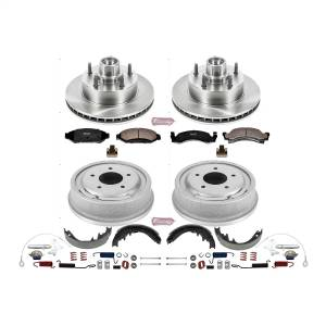 Brakes - Complete Vehicle Disc/Drum Brake Kit - Power Stop - Autospecialty By Power Stop 1-Click Daily Driver Pad/Rotor/Drum And Shoe Kits | Power Stop (KOE15089DK)