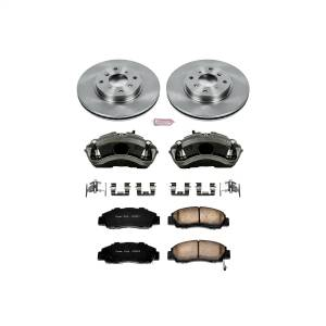 Brakes - Disc Brake Pad/Caliper and Rotor Kit - Power Stop - Autospecialty By Power Stop 1-Click OE Replacement Brake Kit w/Calipers | Power Stop (KCOE1037)