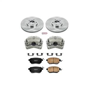 Brakes - Disc Brake Pad/Caliper and Rotor Kit - Power Stop - Autospecialty By Power Stop 1-Click OE Replacement Brake Kit w/Calipers | Power Stop (KCOE091B)