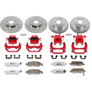 Power Stop - Z26 Extreme Street Warrior 1-Click Brake Kit w/Powder Coated Calipers | Power Stop (KC114-26) - Image 1