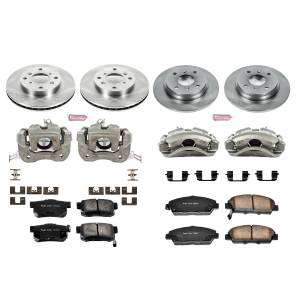 Brakes - Disc Brake Pad/Caliper and Rotor Kit - Power Stop - Autospecialty By Power Stop 1-Click OE Replacement Brake Kit w/Calipers | Power Stop (KCOE1034)