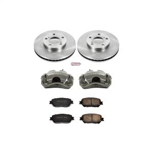 Brakes - Disc Brake Pad/Caliper and Rotor Kit - Power Stop - Autospecialty By Power Stop 1-Click OE Replacement Brake Kit w/Calipers | Power Stop (KCOE1064)