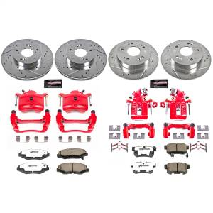 Power Stop - Z26 Extreme Street Warrior 1-Click Brake Kit w/Powder Coated Calipers   Power Stop (KC6781-26) - Image 1