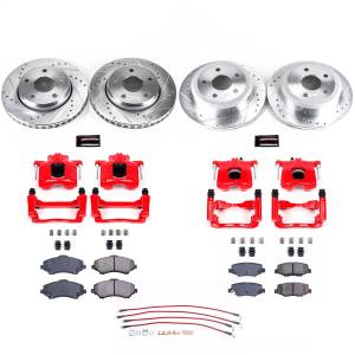 Brakes - Disc Brake Caliper/Rotor/Pad/Hose Kit - Power Stop - Z23 Evolution Sport Performance 1-Click Brake Kit w/Calipers And Hoses | Power Stop (KCH11137)