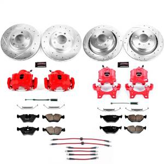 Brakes - Disc Brake Caliper/Rotor/Pad/Hose Kit - Power Stop - Z23 Evolution Sport Performance 1-Click Brake Kit w/Calipers And Hoses | Power Stop (KCH11143)
