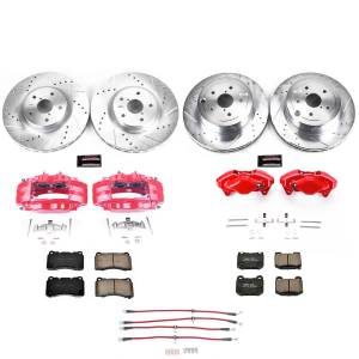 Brakes - Disc Brake Caliper/Rotor/Pad/Hose Kit - Power Stop - Z23 Evolution Sport Performance 1-Click Brake Kit w/Calipers And Hoses | Power Stop (KCH11162)