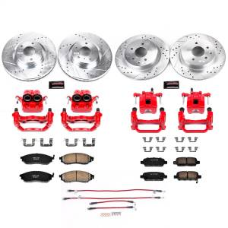 Brakes - Disc Brake Caliper/Rotor/Pad/Hose Kit - Power Stop - Z23 Evolution Sport Performance 1-Click Brake Kit w/Calipers And Hoses | Power Stop (KCH11158)
