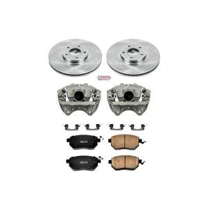 Brakes - Disc Brake Pad/Caliper and Rotor Kit - Power Stop - Autospecialty By Power Stop 1-Click OE Replacement Brake Kit w/Calipers | Power Stop (KCOE091)