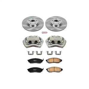 Brakes - Disc Brake Pad/Caliper and Rotor Kit - Power Stop - Autospecialty By Power Stop 1-Click OE Replacement Brake Kit w/Calipers | Power Stop (KCOE112B)