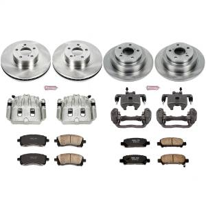 Brakes - Disc Brake Pad/Caliper and Rotor Kit - Power Stop - Autospecialty By Power Stop 1-Click OE Replacement Brake Kit w/Calipers | Power Stop (KCOE1122)