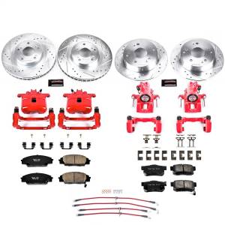 Brakes - Disc Brake Caliper/Rotor/Pad/Hose Kit - Power Stop - Z23 Evolution Sport Performance 1-Click Brake Kit w/Calipers And Hoses | Power Stop (KCH11206)