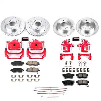 Brakes - Disc Brake Caliper/Rotor/Pad/Hose Kit - Power Stop - Z23 Evolution Sport Performance 1-Click Brake Kit w/Calipers And Hoses | Power Stop (KCH11201)