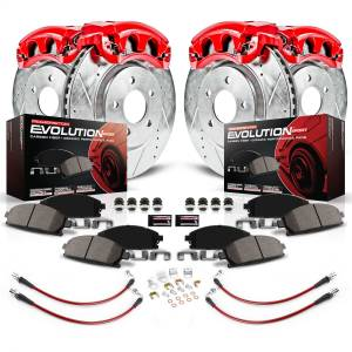 Brakes - Disc Brake Caliper/Rotor/Pad/Hose Kit - Power Stop - Z23 Evolution Sport Performance 1-Click Brake Kit w/Calipers And Hoses | Power Stop (KCH11134)