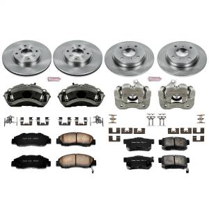 Brakes - Disc Brake Pad/Caliper and Rotor Kit - Power Stop - Autospecialty By Power Stop 1-Click OE Replacement Brake Kit w/Calipers | Power Stop (KCOE1038)
