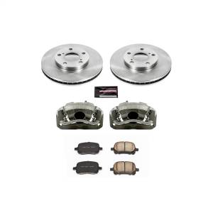 Brakes - Disc Brake Pad/Caliper and Rotor Kit - Power Stop - Autospecialty By Power Stop 1-Click OE Replacement Brake Kit w/Calipers | Power Stop (KCOE1058)
