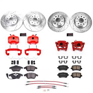 Brakes - Disc Brake Caliper/Rotor/Pad/Hose Kit - Power Stop - Z23 Evolution Sport Performance 1-Click Brake Kit w/Calipers And Hoses | Power Stop (KCH11154)