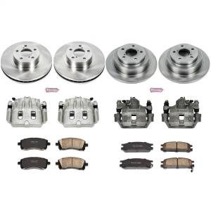Brakes - Disc Brake Pad/Caliper and Rotor Kit - Power Stop - Autospecialty By Power Stop 1-Click OE Replacement Brake Kit w/Calipers | Power Stop (KCOE1121)