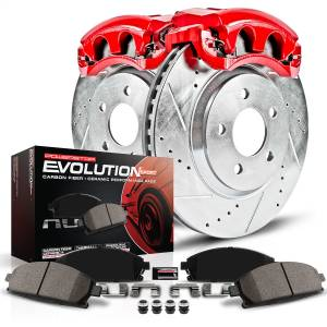 Power Stop - Z23 Evolution Sport Performance 1-Click Brake Kit w/Powder Coated Calipers | Power Stop (KC3128A) - Image 2