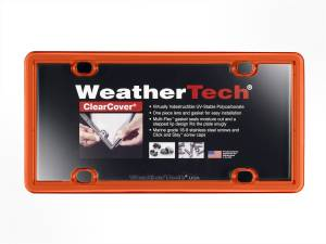 Bumper - License Plate Cover - WeatherTech - ClearCover | WeatherTech (8ALPCC13)