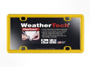 Bumper - License Plate Cover - WeatherTech - ClearCover | WeatherTech (8ALPCC17)