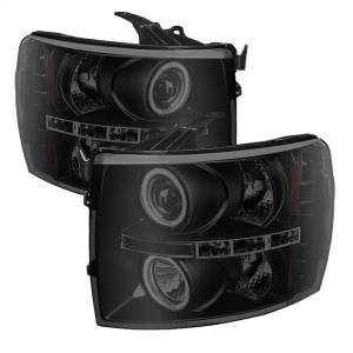 Exterior Lighting - Head Light Set - Spyder Auto - CCFL Halo LED Projector Headlights | Spyder Auto (5078735)