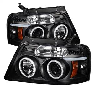 Exterior Lighting - Head Light Set - Spyder Auto - CCFL Halo LED Projector Headlights | Spyder Auto (5030085)