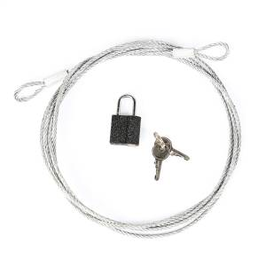 Car Cover Lock And Cable System | Rugged Ridge (13303.01)