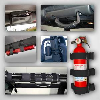 Truck Bed Accessories - Roll Bar Storage Bag - Rugged Ridge - Interior Roll Bar Trim Kit   Rugged Ridge (12496.01)