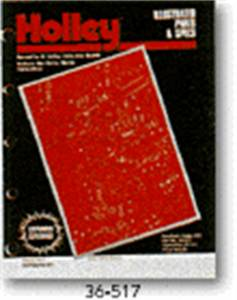 Tools and Equipment - Repair Manual - Holley Performance - Manual Illustrated Parts & Specs Manual | Holley Performance (36-51-7)