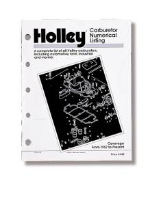 Tools and Equipment - Repair Manual - Holley Performance - Carburetor Numerical Listing | Holley Performance (36-168)
