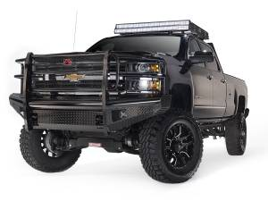 Fab Fours - Black Steel Front Ranch Bumper | Fab Fours (CH05-S1360-1)