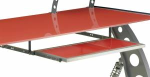 Tools and Equipment - Keyboard Tray - PitStop Furniture - Pitstop GT Spoiler Pull Out Keyboard Tray | PitStop Furniture (KPT300R)