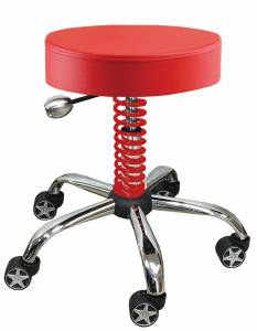 Tools and Equipment - Stool - PitStop Furniture - Pitstop Rolling Garage Stool | PitStop Furniture (RGS3500R)