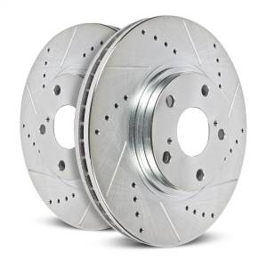 Brakes - Disc Brake Rotor Set - Power Stop - Evolution Performance Drilled/Slotted/Plated Brake Rotor Set | Power Stop (AR8102XPR)