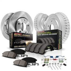 Brakes - Complete Vehicle Disc/Drum Brake Kit - Power Stop - Autospecialty By Power Stop 1-Click Daily Driver Pad/Rotor/Drum And Shoe Kits | Power Stop (KOE15070DK)