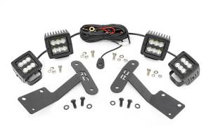 Exterior Lighting - Exterior LED Kit - Rough Country - LED Lower Windshield Ditch Kit   Rough Country (70866)