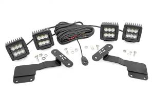 Exterior Lighting - Exterior LED Kit - Rough Country - LED Lower Windshield Ditch Kit   Rough Country (70851)