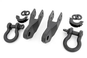 Towing - Tow Hook Mount - Rough Country - Tow Hook To Shackle Conversion Kit | Rough Country (RS167)