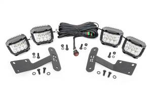 Exterior Lighting - Exterior LED Kit - Rough Country - LED Lower Windshield Ditch Kit   Rough Country (70839)