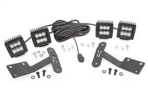 Exterior Lighting - Exterior LED Kit - Rough Country - LED Lower Windshield Ditch Kit   Rough Country (70835)