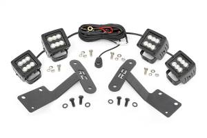 Exterior Lighting - Exterior LED Kit - Rough Country - LED Lower Windshield Ditch Kit   Rough Country (70836)