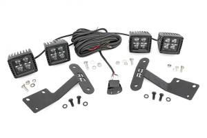 Exterior Lighting - Exterior LED Kit - Rough Country - LED Lower Windshield Ditch Kit   Rough Country (70838)