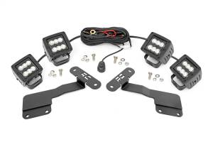 Exterior Lighting - Exterior LED Kit - Rough Country - LED Lower Windshield Ditch Kit   Rough Country (70852)