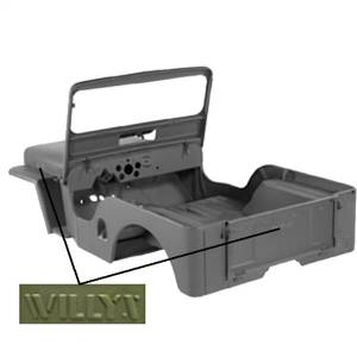 Body Part - Body Tub Kit - Omix - Body Kit   Omix (DMC-673859-3A)