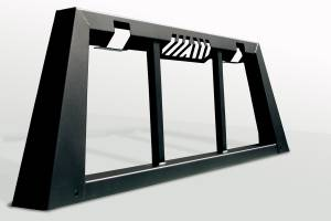 Truck Bed Accessories - Truck Cab Protector/Headache Rack - Fab Fours - Headache Rack   Fab Fours (HR2010-1)