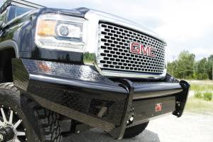 Fab Fours - Black Steel Front Ranch Bumper | Fab Fours (GM14-S3161-1) - Image 1