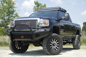 Fab Fours - Black Steel Front Ranch Bumper | Fab Fours (GM14-S3162-1) - Image 3