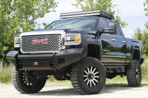 Fab Fours - Black Steel Front Ranch Bumper | Fab Fours (GM14-S3161-1) - Image 3