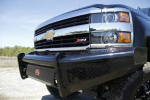 Fab Fours - Black Steel Front Ranch Bumper | Fab Fours (CH14-S3061-1) - Image 1