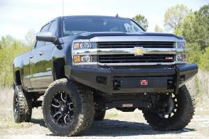 Fab Fours - Black Steel Front Ranch Bumper | Fab Fours (CH14-S3061-1) - Image 3
